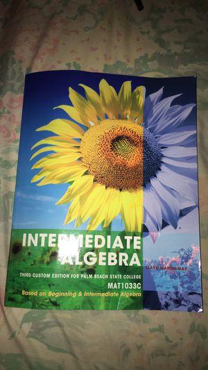 Palm beach state college Intermediate Algebra MAT1033C for Sale in West Palm Beach, FL