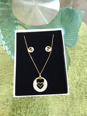 Set of chain and earrings gold plated for Sale in Columbia, SC