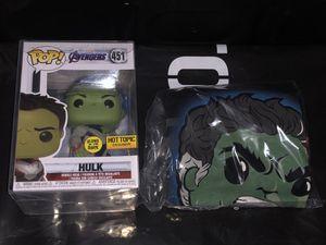 Funko Pop! Hulk #451 GITD Pop and Tee Hot Topic Exclusive Bundle for Sale in Whittier, CA
