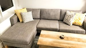 Grey Ikea karlstad couch/ sectional for Sale in Brooklyn, NY