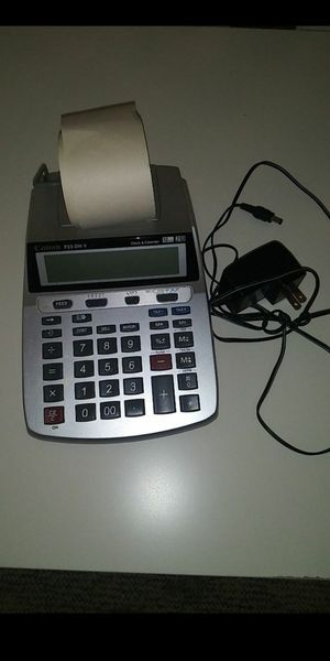 Canon office printer p23 dh-v works and prints great including paper roll for Sale in Riviera Beach, FL