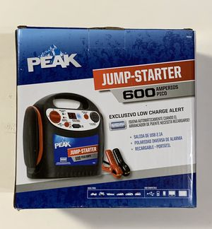 PEAK Portable Jump Starter 600 AMP w/ Low Charge Alert PKC0J6 for Sale in Fountain Valley, CA