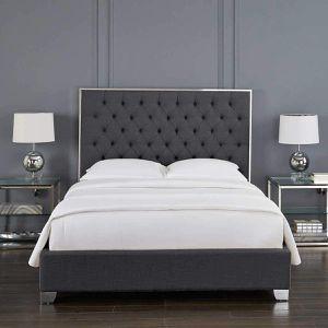 Cali King Size Upholstered Bed Frame for Sale in Honolulu, HI