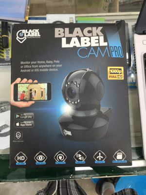 Black label cam pro bl2605 plug and play HD 1080 H.264 WIFI cam opened box for Sale in Corning, OH