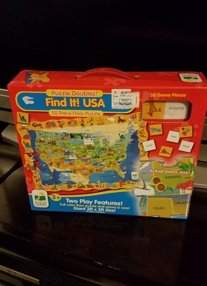 Find it USA Floor Puzzle for Sale in Snellville, GA