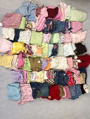 Baby girl 6 9 months girls lot clothing 82 pieces for Sale in Wesley Chapel, FL