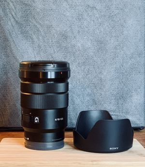 Sony SELP18105G E PZ 18-105mm f/4 Camera Lens for Sale in Wynnewood, PA