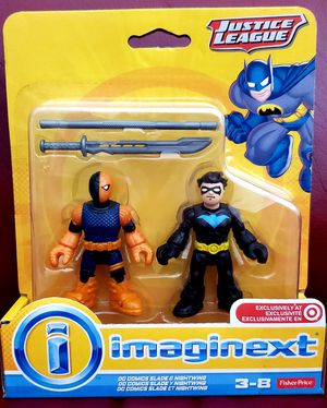 DC Comics Collectibles Imaginext Justice League SLADE & NIGHTWING Figure Toy Target Only Exclusive Fisher-Price Batman @2014 for Sale in San Diego, CA