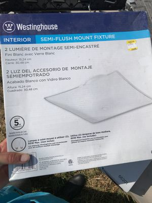 Westinghouse semi-flush mount light fixtures for Sale in New Orleans, LA