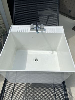 Laundry room tub with faucet for Sale in Dagsboro, DE