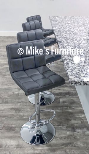New 4 gray bar stools $55 each for Sale in Orlando, FL