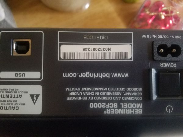 EV ETX‑35P. Shure PGXD24/sm58. presonus firebox. behringer bcf2000