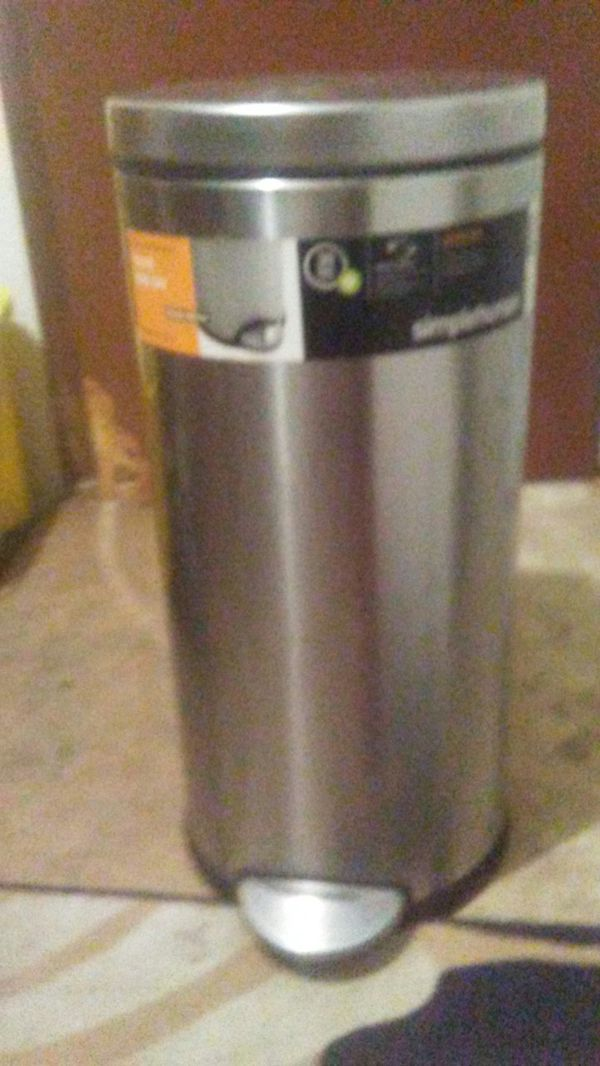 Stainless Steal Round Step Can