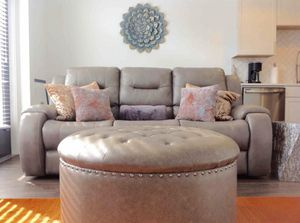 Grey couch plus ottoman for Sale in Nashville, TN
