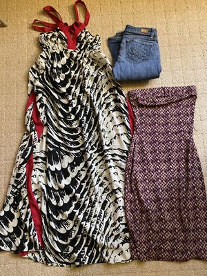 Women's Clothes size XS dress and size 26 jeans...$15 for all! for Sale in Los Angeles, CA