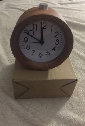 Wooden clock alarm for Sale in Moreno Valley, CA