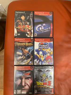 6 PlayStation 2 Games (Gran Turismo 3, Onimusha 2, Sonic Heroes, Prince of Persia, WWE, Dragonball Z) for Sale in La Cañada Flintridge, CA
