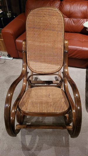 Vintage 1970s rocking chair rattan wood for Sale in Chino Hills, CA
