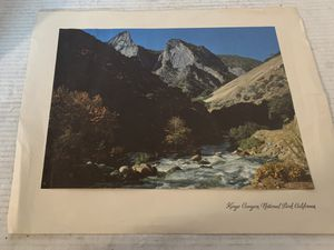 Kings Canyon National Park California Flyer Ansel Adams 1941 for Sale in Beaverton, OR