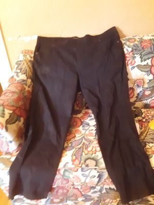 Gloria Vanderbilt black all around slimming effect dress pants size 24 stretchy for Sale in Southbridge, MA