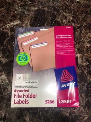 File folder labels for Sale in Kenosha, WI