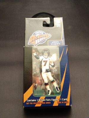 John Elway Action Flat Figure with card for Sale in Hurst, TX