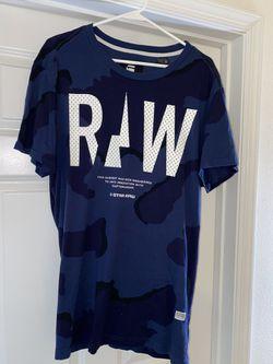 G-Star Raw Blue Camo T-Shirt size XL for Sale in Manassas,  VA