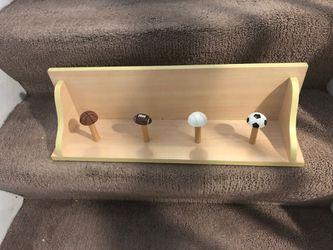 Sports Shelf/Coat holder for kids for Sale in Troy,  MI