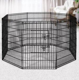 New in box 42 inch tall x 24 inches wide each panel x 8 panels steel wire exercise playpen 16 feet long fence safety gate dog cage crate kennel expan for Sale in Los Angeles, CA
