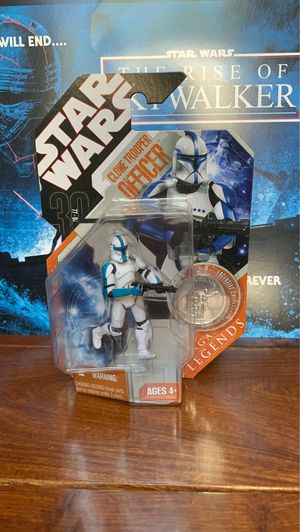 Star Wars Blue Variant Clone Trooper Officer with Exclusive Coin Action Figure for Sale in Castro Valley, CA