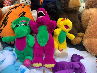 Vintage Barney stuffed animal set 3 for Sale in Round Lake Heights,  IL