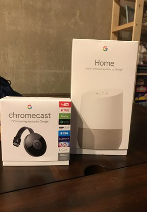 Google Home and Chromecast for Sale in San Antonio, TX