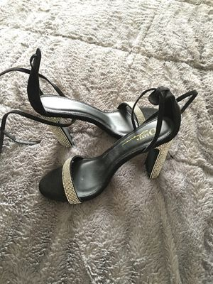 Black and rhinestone strappy heel for Sale in Malvern, PA