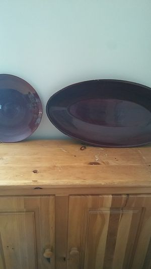 "Round decorative plate 12""x12"" . Decorative platter 23"" long for Sale in Arlington, VA"