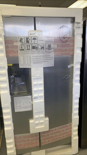 Save 30% Brand New in Box Samsung Stainless Side by Side Refrigerator 1 year warranty for Sale in Dublin, CA