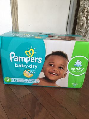 Pampers SIZE 5 112 pañales for Sale in Long Beach, CA