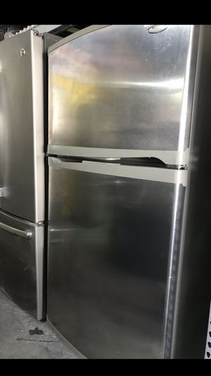 Refrigerator top and bottom stainless steel 32 wide for Sale in La Habra, CA
