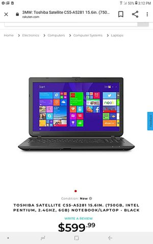 Toshiba satellite core i3 for Sale in Uniontown, OH