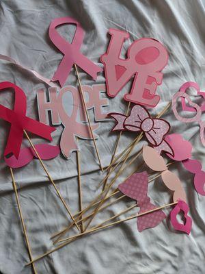 Breast Cancer Awareness Photo Booth Kit - BCA Props for Sale in Santa Cruz, CA