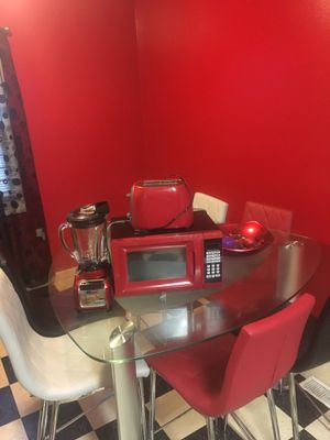 Nice table set 6 chairs .. comes with microwave blender & toaster! 600$ or Best offer !! Needs gone asap ! for Sale in Cleveland, OH