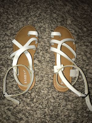 Lulus white sandals size 6 for Sale in Norwalk, CA