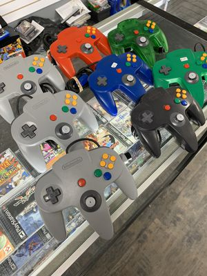 Nintendo 64 Controls $25-$30 each Gamehogs 11am-7pm for Sale in East Los Angeles, CA
