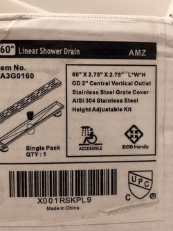 """AMZ 60"""" Linear Shower Drain Stainless Steel Grate Cover for Sale in Manhattan Beach,  CA"""