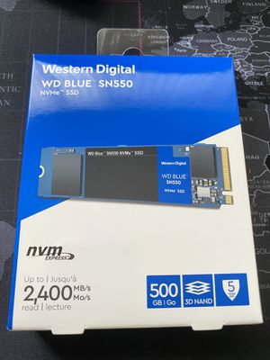 WD Blue M.2 2280 NVMe SSD 500GB for Sale in San Jose, CA