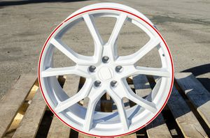 """Honda 20"""" new white red si style rims tires for Sale in Hayward, CA"""