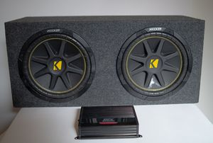"""Kickers 12"""" with AMP (All in one car audio) for Sale in Los Angeles, CA"""