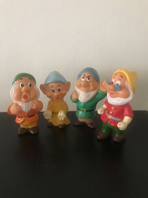 """Vintage 5"""" Squeaky Dwarfs Walt Disney Productions made one Hong Kong for Sale in San Jose, CA"""