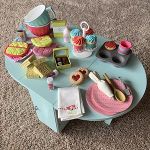 American Girl Baking Table And Treats for Sale in Costa Mesa, CA