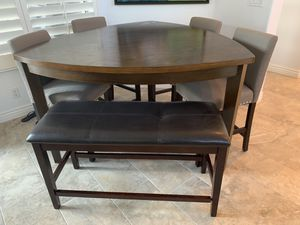 Counter height dining table with chairs for Sale in Scottsdale, AZ