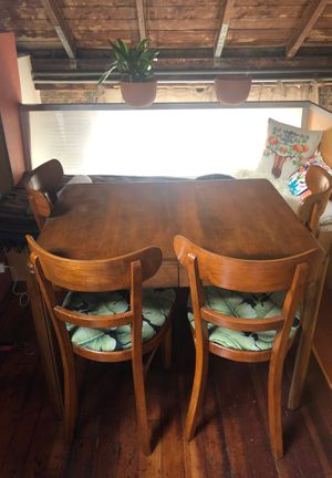 antique dining table + chairs circa 1945 for Sale in Emeryville, CA